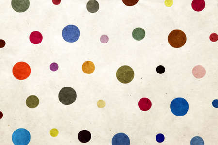 textile wallpaper with random sized dots  Stock Photo