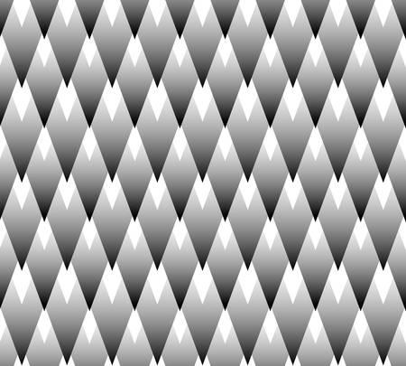 Arrière-plan décoratif géométrique abstrait sans soudure; Motif noir et blanc.