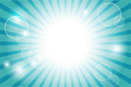 sun flare: Sunburst with sun flare background; Vector illustration. Illustration