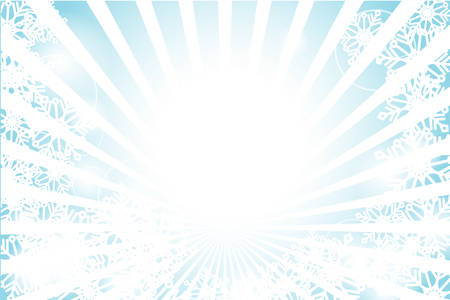 sun flare: Winter sunburst with sun flare and snowflake background Illustration