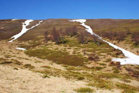spring landscape  mountain Stock Photo