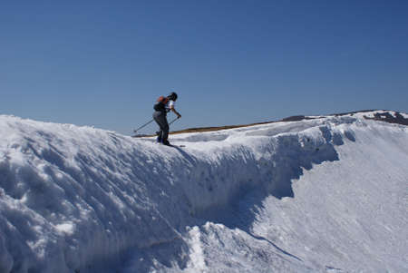 skier in mountain
