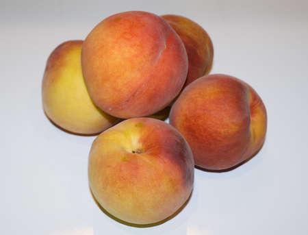 still life with peach Stock Photo