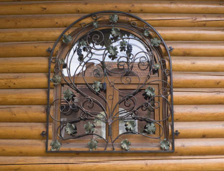 window in a wooden house