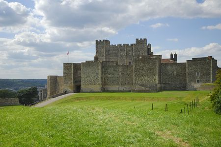dover: Dover Castle in Kent Uk has guarded the English Channel for centuries.