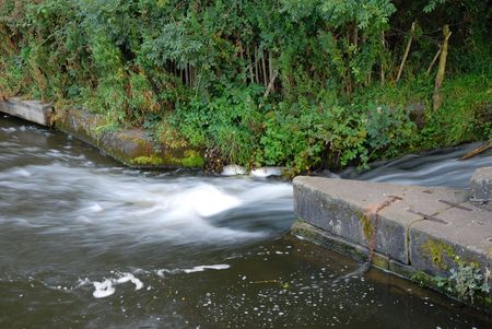 overflow: An overflow to take excess water in a canal system.