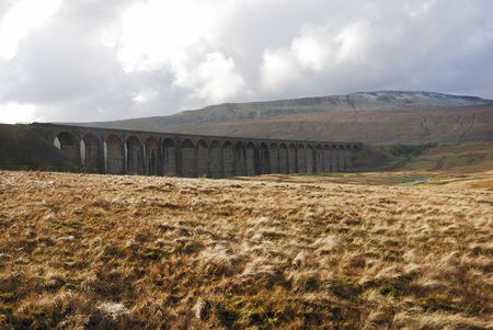 dales: Ribblehead viaduct with Blea Moor in the forground and hills in the Background
