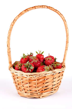 Full basket of fresh strawberries photo