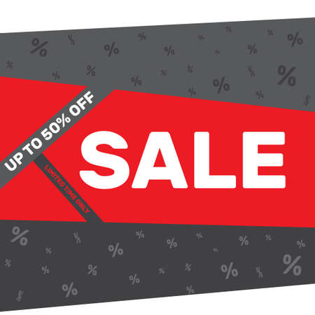 proposition: Discount sale poster banner design template on a gray background