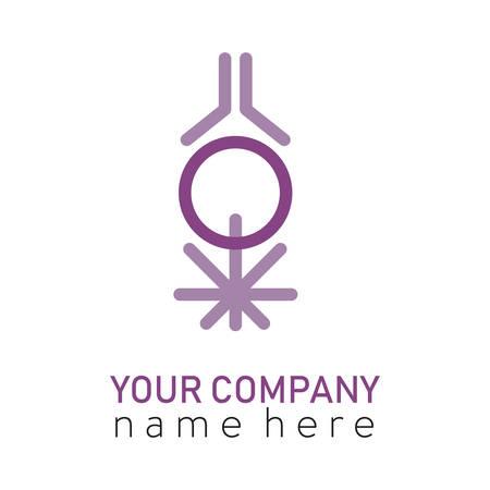3 logo violet esprit corps et âme Logo