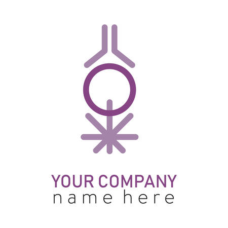 3 purple sign mind body and soul logo Logos