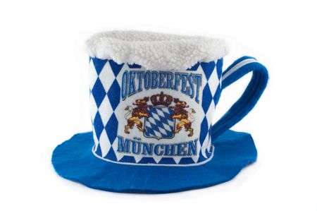 Funny oktoberfest hat as a glass of beer  photo