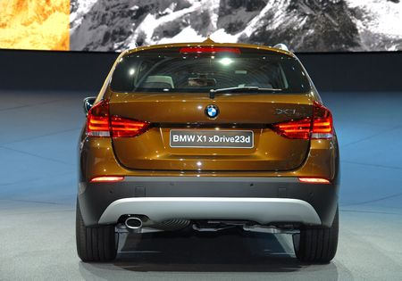 iaa: FRANKFURT - SEP 20: BMW X1 Xdrive23d Efficient Dynamics on 63rd IAA (Internationale Automobil Ausstellung) on September 20