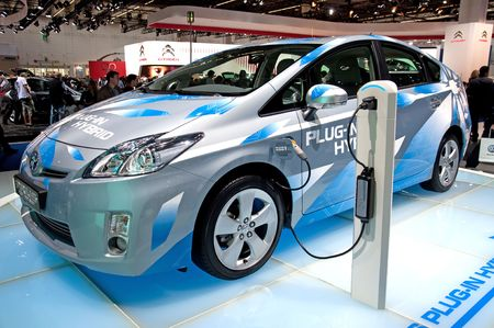 FRANKFURT - SEPTEMBER 20: PLUG-IN Toyota Hybrid on 63rd IAA (Internationale Automobil Ausstellung) on September 20, 2009 in Frankfurt, Germany