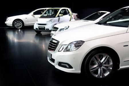 FRANKFURT - SEPTEMBER 20: Mercedes Benz on the 63rd IAA (Internationale Automobil Ausstellung) on September 20, 2009 in Frankfurt, Germany Stock Photo - 6897215
