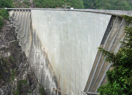 One of the tallest dam in Europe in the Verzasca Valley (Tessin - Switzerland)