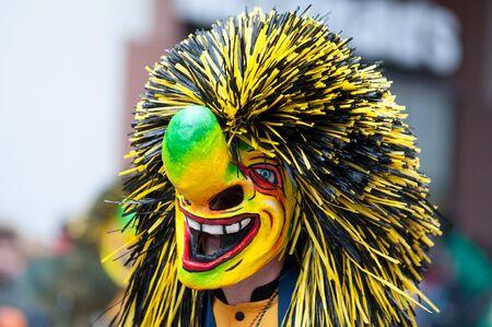 Freiburg, Germany - February 15 : Mask parade at the historical carnival on February 15, 2010 in Freiburg, Germany Stock Photo - 8645056