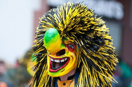 fasching: Freiburg, Germany - February 15 : Mask parade at the historical carnival on February 15, 2010 in Freiburg, Germany