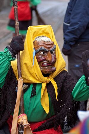 fasnet: Freiburg, Germany - February 15 : Mask parade at the historical carnival on February 15, 2010 in Freiburg, Germany