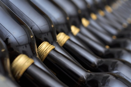 Many bottles of wine in the store Stock Photo - 9483331