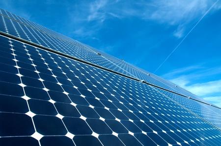 Solar panel against blue sky Stock Photo - 9647408