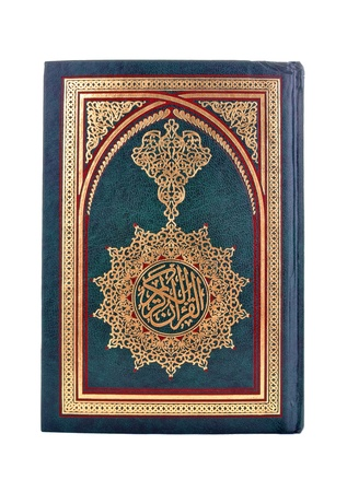 koran: Book of The Holy Quran isolated on white
