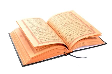 quran: El libro sagrado del Cor�n aislado en blanco Foto de archivo