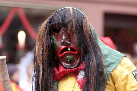 freiburg: Freiburg, Germany - February 15 : Mask parade at the historical carnival on February 15, 2010 in Freiburg, Germany