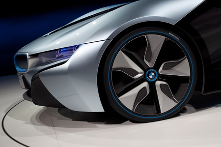 FRANKFURT - SEP 25:  BMW Concept car i8 shown at the 64th Internationale Automobil Ausstellung (IAA) on September 25, 2011 in Frankfurt, Germany. Stock Photo - 10752987