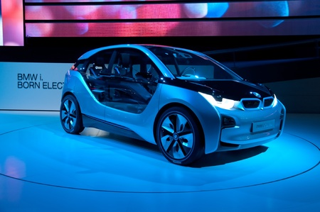 i3: FRANKFURT - SEP 25:  BMW Concept car i3 shown at the 64th Internationale Automobil Ausstellung (IAA) on September 25, 2011 in Frankfurt, Germany. Editorial