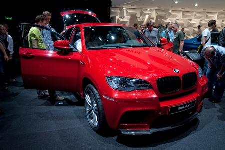 iaa: FRANKFURT - SEP 25:  BMW X6 M  shown at the 64th Internationale Automobil Ausstellung (IAA) on September 25, 2011 in Frankfurt, Germany.