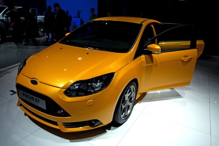 FRANKFURT - SEP 25:   Ford Focus ST presented at the 64th Internationale Automobil Ausstellung (IAA) on September 25, 2011 in Frankfurt, Germany. Stock Photo - 10753024