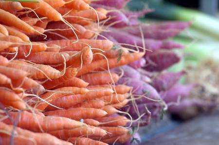 Fresh Carrots At The Local Market photo