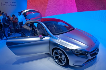 FRANKFURT - SEP 25: Mercedes Benz A-Class Concept  presented at the 64th Internationale Automobil Ausstellung (IAA) on September 25, 2011 in Frankfurt, Germany. Stock Photo - 11045282