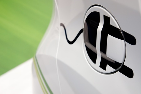 Plug-in Eco Hybrid Car Symbol