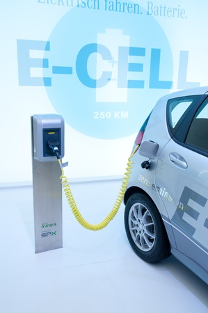FRANKFURT - SEP 25:   Electric Hybrid Car presented at the 64th Internationale Automobil Ausstellung (IAA) on September 25, 2011 in Frankfurt, Germany. Stock Photo - 11045266