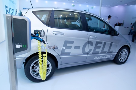 FRANKFURT - SEP 25:   Electric Hybrid Car presented at the 64th Internationale Automobil Ausstellung (IAA) on September 25, 2011 in Frankfurt, Germany. Stock Photo - 11045270