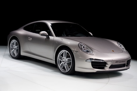 FRANKFURT - SEP 25: Porsche 911 Carrera presented at the 64th Internationale Automobil Ausstellung (IAA) on September 25, 2011 in Frankfurt, Germany.