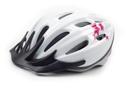 sports wear: Bike helmet for women isolated on white