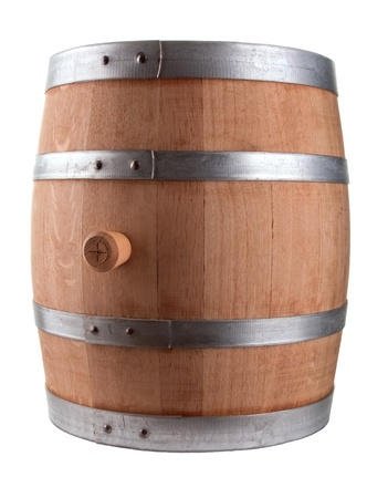 Oak Barrel Isolated On White Background photo
