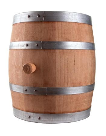 oak barrel: Oak Barrel Isolated On White Background