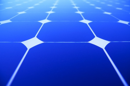 Background of Blue Solar Panels photo