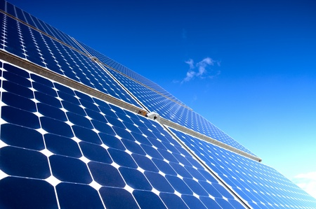 Solar Panel Against Blue Sky Stock Photo - 13533015