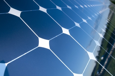 solar panel roof: Background of Blue Solar Panels