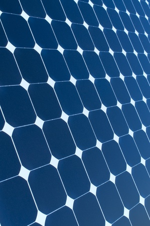 Background of Blue Solar Panel photo