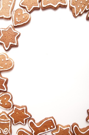 gingerbread: Varoius Homemade Gingerbread Cookies With Different Shapes for Christmas