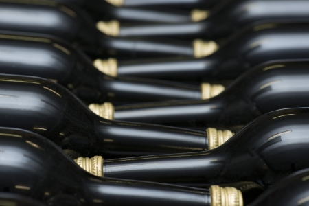 intoxicant: Many of Wine Bottles In A Row