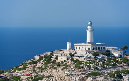 Lighthouse at Cape Formentor in the Coast of North Mallorca, Spain   Balearic Islands   photo