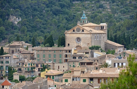 spanish landscapes: A View of Valldemossa in Mallorca, Spain ( Belearic Islands )