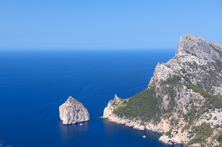 Cape Formentor in the Coast of North Mallorca, Spain   Balearic Islands Stock Photo - 21824520